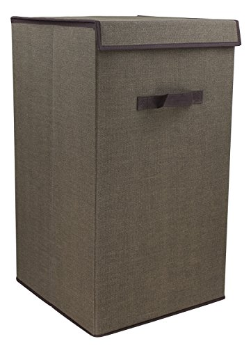 Eco Design Material Laundry Rectangle Hamper Faux Jute Fabric Store Your Dirty Cloths In This Convenient Laundry Hamper (Brown) (Furniture Singapore Rattan Bamboo)