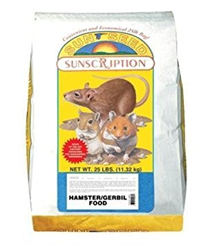 Sun Seed Company Sss93025 Sunscription Hamster/Gerbil Economy Mix, 25-Pound