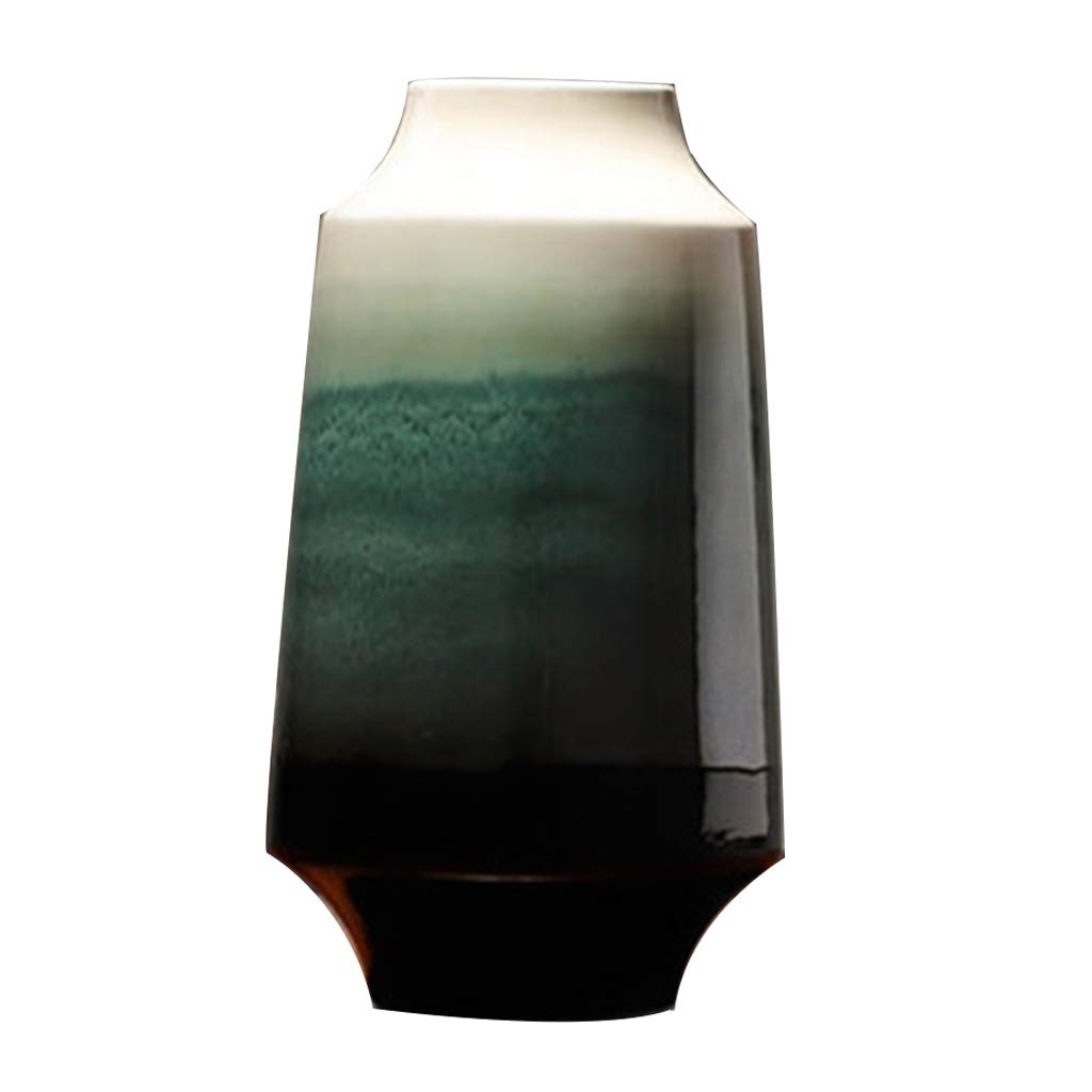 ドライフラワーアレンジメントのファミリーオフィスやリビングルームに最適なセラミック花瓶、高温ヨーロッパスタイル B07SDQX2W5