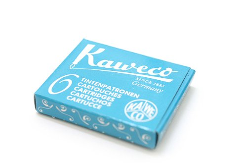 Kaweco Fountain Pen ink cartridge short turquoise - pack of 6