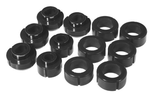 Prothane 7-115-BL Black Body and Standard Cab Pickup Mount Bushing Kit - 12 Piece