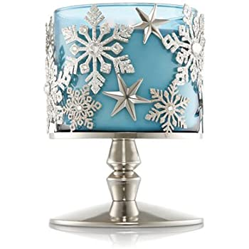 Bath and Body Works Snowflake Pedestal 3 Wick Candle Sleeve.
