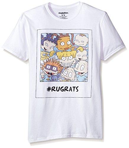 Nickelodeon Men's Rugrats Short Sleeve Graphic T-Shirt, Rugrats White, XL