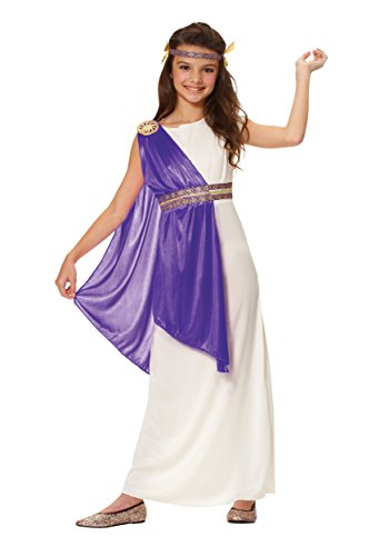 Big Girls' Purple Roman Empress Costume Medium (8-10) (Roman Girl Costume)