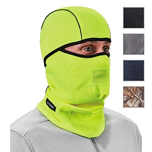 Ergodyne N-Ferno 6823 Winter Ski Mask Balaclava, Wind-Resistant Face Mask, Thermal Fleece, Hi Vis