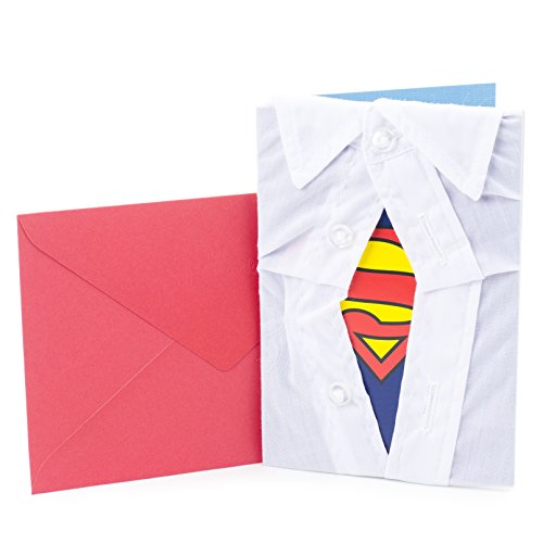 Hallmark Signature Birthday Greeting Card for Him (Superman Silhouette)