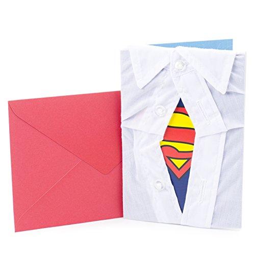 Hallmark Signature Birthday Greeting Card for Him (Superman Silhouette)