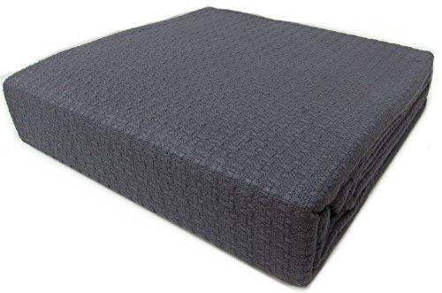 Ralph Lauren Textured Bedspread Blanket 100% Cotton Full Que