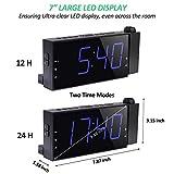 Projection Digital Alarm Clock for Bedroom, Large