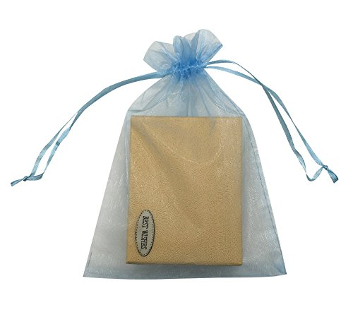 SUNGULF 100pcs Organza Pouch Bag Drawstring 5