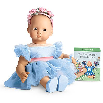 American Girl Bitty Baby's Ballerina Outfit + Book by Mattel