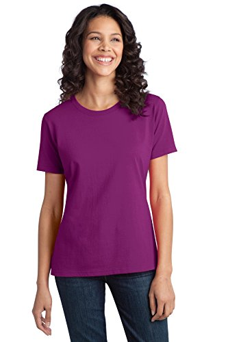 Port & Company Women's Essential Ring Spun Cotton T Shirt M Raspberry ()
