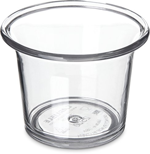 Carlisle 250007 SAN Classic Sauce Cup, 2.5-oz. Capacity, Clear (Case of 72)