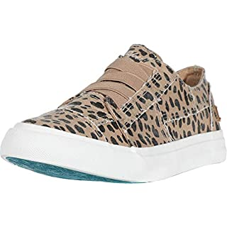 Blowfish Malibu womens Marley Sneaker, Latte Spots Print Canvas, 6.5 M