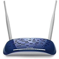 TP-Link TD-W8960N IT Modem Router Wireless N, 300 Mbps, ADSL2+, 4 Porte Fast Ethernet, IPsec VPN, WPS, Filtro ADSL Incluso, Istruzione in Lingua Italiana