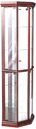 Cabinet Glass Doors Corner (ACME 02347 Martha Corner Cabinet, Cherry Finish)