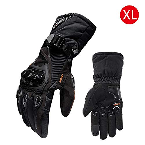 winter motorcycle gloves waterproof and warm four seasons riding rider anti-fall cross-country gloves snug fit good grip long cuff well stitched hand protector cycling outdoor leather motorbike locomo