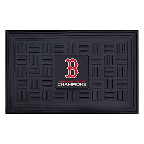 (MLB Boston Red Sox Medallion Door Mat, Navy, 19.5