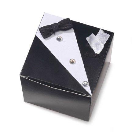 - Set of 12 Tuxedo Embellished Wedding Favor Boxes