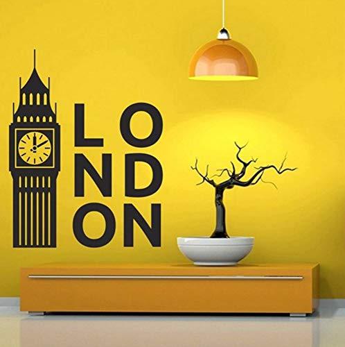 Dalxsh United Kingdom London Clock Decal Bedroom Decoration Art Poster Big Ben Vinyl Wall Sticker Home Decor Living Room Decal -