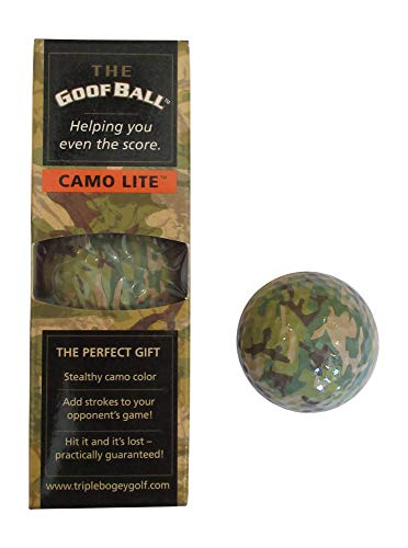 Camo Golf Ball Novelty Gag Gift 3 Pack (Camo Lite)