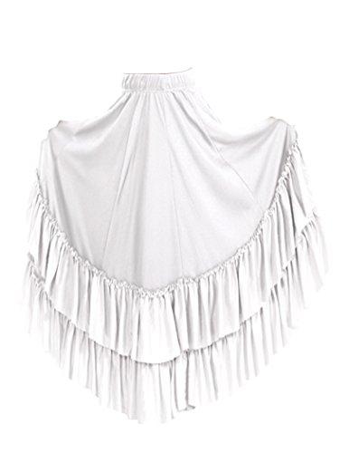 Basic Moves Adult Double Ruffle Flamenco Polyester Skirt
