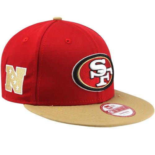 New Era 9 Fifty Baycik Snapback NFL San Francisco 49ers帽子キャップレッド/カーキ( M / L )   B00GODW9G0