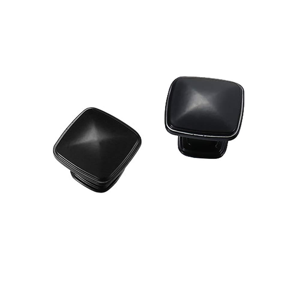 10 pomelli quadrati tradizionali per armadietti cassettiere armadi maniglie piatte nere Tiazza