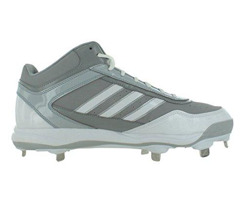 Scarpe Da Uomo Adidas Excelsior Pro Metal Mid Baseball Taglia Bianco / Grigio
