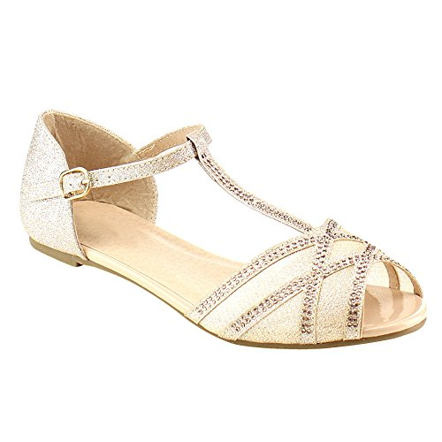 Beston GB81 Womens T Strap Sandal