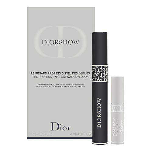 (Christian Dior Diorshow 2 Piece Set (mascara 090, 0.33 Oz + Maximizer 3d Base Mascara 0.13 Oz))