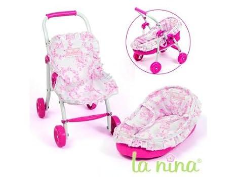 Amazon.es: Carrito de bebé + Capacho flores rosas Anita: Juguetes y juegos