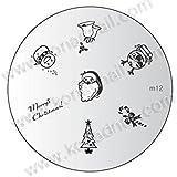 KONAD Stamping Schablone M12 Weihnachten XMAS
