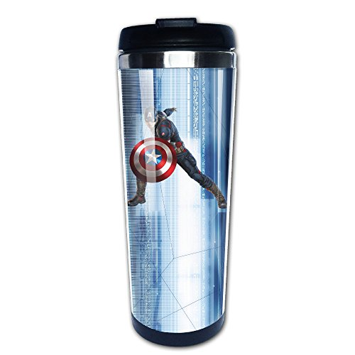 captain america glass cup - 9