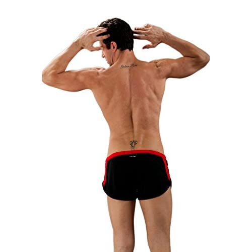1ae6a40b3785ad best Men s Sport Pants with Thong Swim Trunk G-cup String Shourts ...