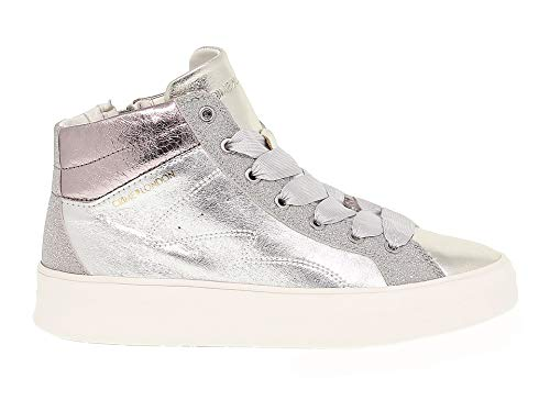 40ddb7d7c10a5 Crime London Women s Crime25021 Silver Leather Sneakers