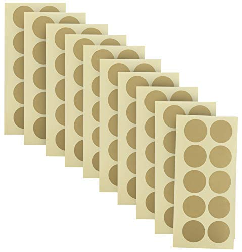 100-Pack of 1 Inch Gold Scratch Off Stickers. The Decals are Perfect for Any Personalized Paper Projects Such as DIY Baby Gender Reveal Cards, Bridal Showers, Kid Charts, Announcements (Gold) -