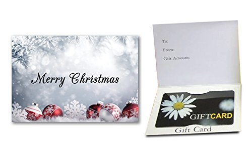 Merry Christmas - (Ornaments) Gift Card Holder (100 pack)