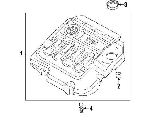 MK7 TDI Engine Cover 04L103925Q New Genuine: