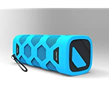 iXsound Bluetooth CSR 4.0 Speaker, Portable, Wireless, Rechargeable with 10W Power and 30 Hour Battery, Built-in Microphone and Carabiner(Blue)