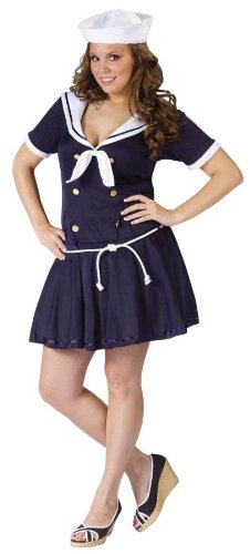 Costume Sailor Pin 40s Up (Anchor's Away Adult Costume - Plus Size)