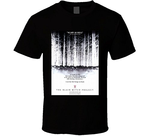 The Blair Witch Project Cool Vintage 90's Movie Poster Fan T Shirt L Black