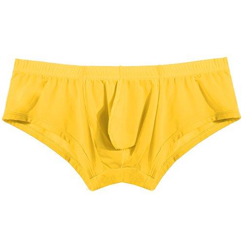 Avidlove Mens Underwear Men Underpants Low Waist Solid Boxers Briefs Casual Soft Shorts Plus Size
