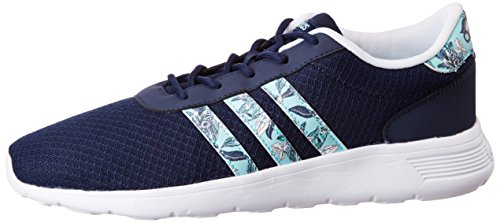 adidas Lite Racer W, Zapatilla de Deporte Baja del Cuello para Mujer, Azul (Maruni/Agucla/Ftwbla), 40 EU