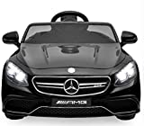 Best Choice Products 12V Kids Licensed Mercedes-Benz S63 Coupe Ride-On Car w/ Parent Control, MP3, 3 Speeds - Black
