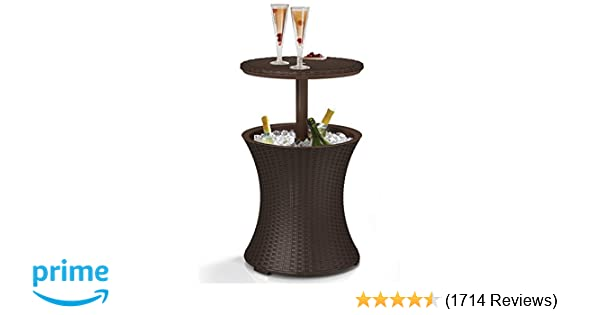 Zenstyle Height Adjustable Cool Bar Rattan Style Outdoor Patio Table