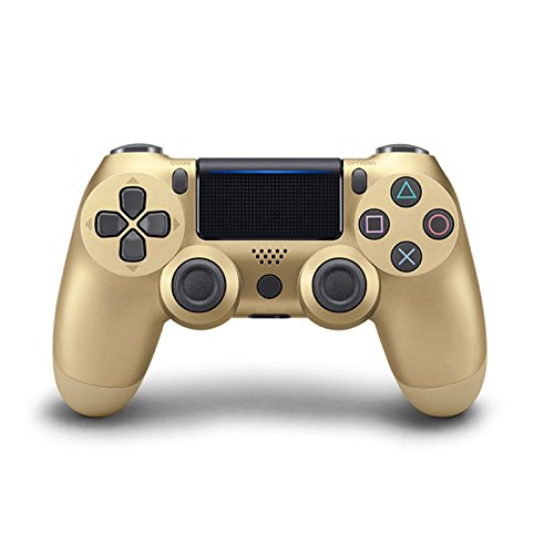 Aoile Bluetooth Wireless Controller for PS4 Vibration Joystick Gamepad PS4 Game Controller (Gold)