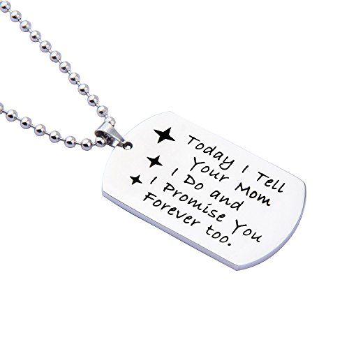ENSIANTH Gift for Stepson Step Daughter Today I tell your Dad I do and I promise you Forever too Necklace,Wedding Gift Blended Family Gift (Mom necklace) by ENSIANTH