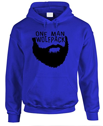 ONE MAN WOLFPACK beard epic wolf pack mma - Mens Pullover Hoodie, 3XL, Royal