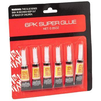 SUPER GLUE 6PK .05OZ EA GOV HRDW BLC, Case Pack of 36
